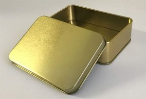Empty Survival Tin with Lid and Base