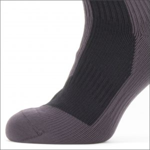 Sealskinz Waterproof Extreme Cold Weather Mid Length Sock – Black / Grey