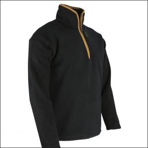 Huntsbury Country Fleece Pullover – Black