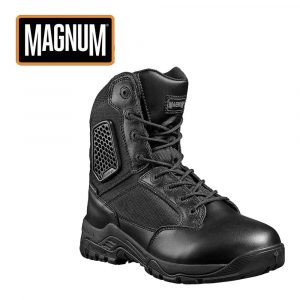 Magnum Strike Force 8.0 Waterproof Sidezip Men's Uniform Boot – Black