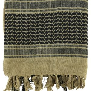Kombat Tactical Shemagh Scarf – Sand/Black