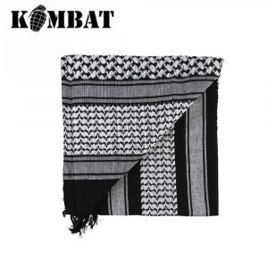 Kombat Tactical Shemagh Scarf – Black/White
